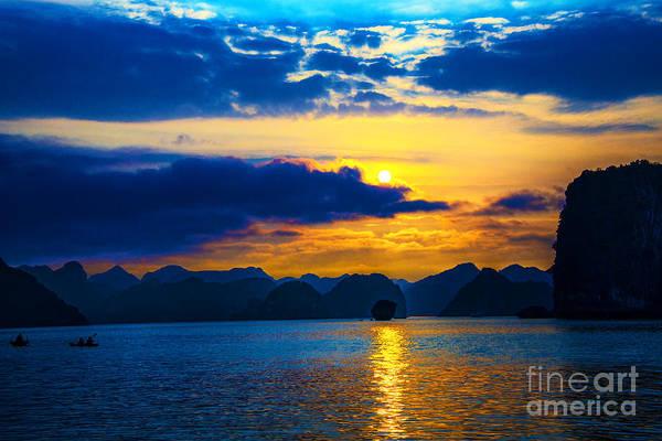 Halon Wall Art - Photograph - Halong Bay Sunset by Rick Bragan