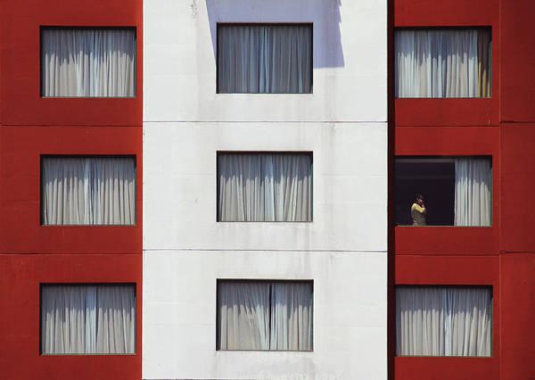 Curtains Photograph - Halooo!!! by Arfah Aksa
