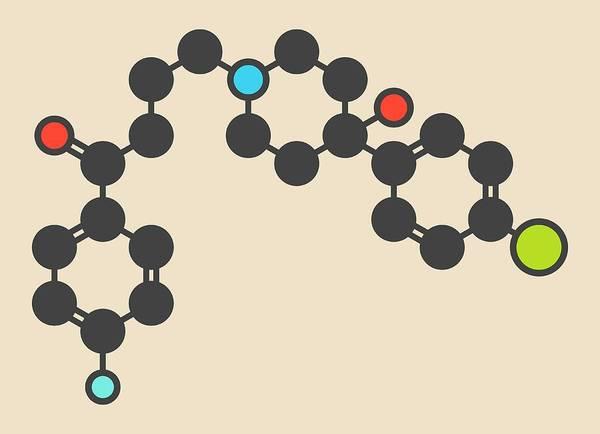 Psychiatry Photograph - Haloperidol Antipsychotic Drug Molecule by Molekuul