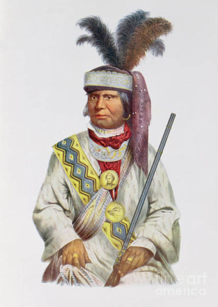 Tribe Photograph - Halpatter-micco Or Billy Bowlegs, A Seminole Chief, C.1825, Illustration From The Indian Tribes by Charles Bird King