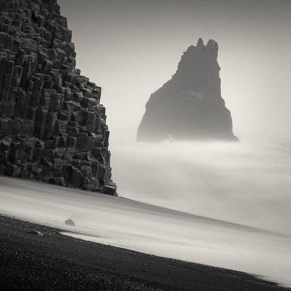 Wall Art - Photograph - Halsenifs Hellir Sea Stack by Dave Bowman