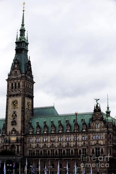 Rathaus Photograph - Hamburg Rathaus At Dusk by John Rizzuto