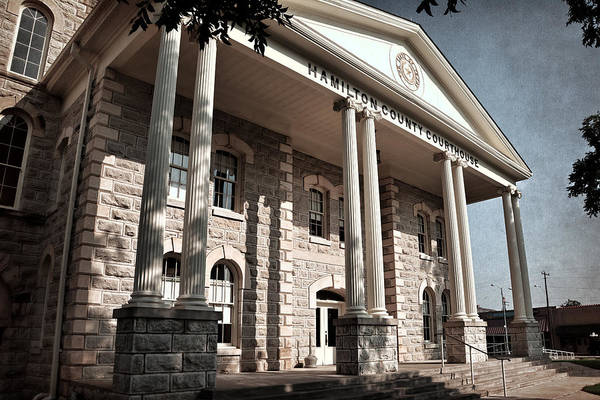 Photograph - Hamilton County Courthouse by Joan Carroll