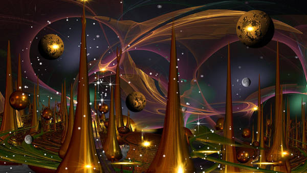 Fractal Landscape Digital Art - Hamlet 2012 by Phil Sadler