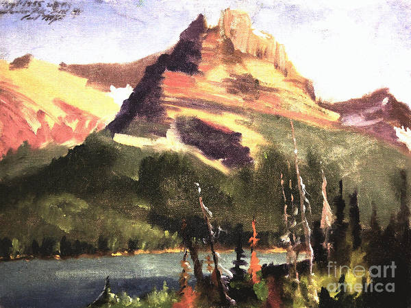 Painting - Hamlin Peak Bear Tooth Range by Art By Tolpo Collection