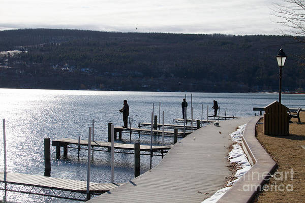 Photograph - Hammondsport Dock Fishing by William Norton