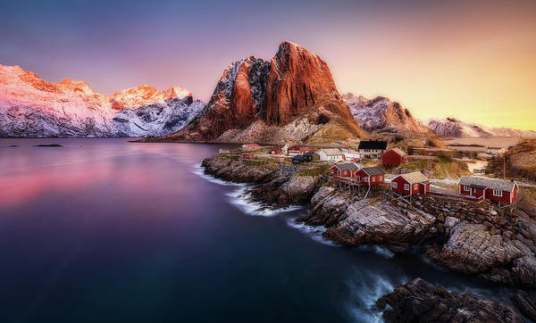 Landmark Building Photograph - Hamnoy Sunrise by Javier De La