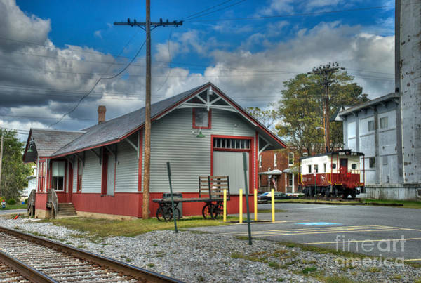 Photograph - Hampstead Train Station And Western Maryland Caboose by Mark Dodd