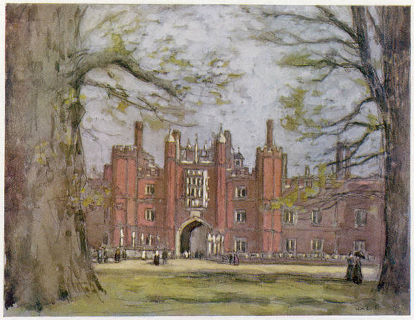 Hampton Court, West London, Showing Art Print by Mary Evans Picture Library