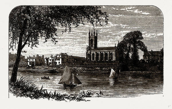 Wall Art - Drawing - Hampton, From The River, Uk by Litz Collection
