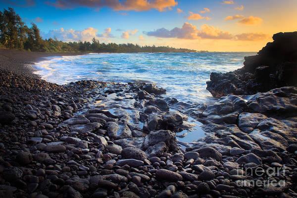 Photograph - Hana Bay Sunrise by Inge Johnsson