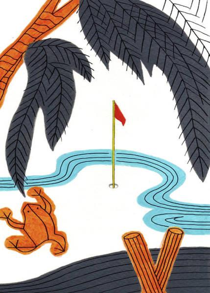 Hanafuda Golf For Cards Art Print