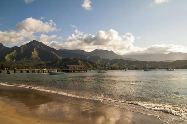 Polynesian Photograph - Hanalei Bay Pier - Kauai Hawaii by Brian Harig