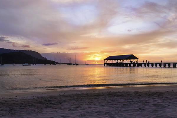 Wall Art - Photograph - Hanalei Bay Pier Sunset 3 - Kauai Hawaii by Brian Harig