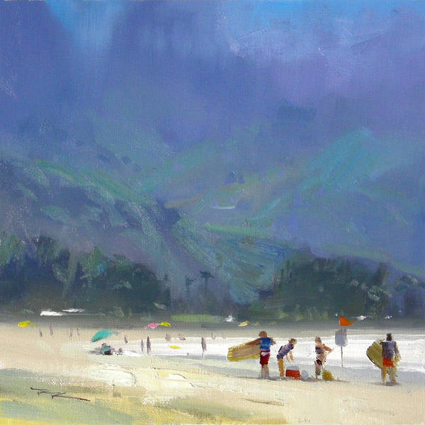 Wall Art - Painting - Hanalei Bay by Richard Robinson
