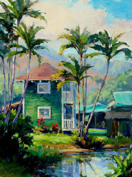 Mountain Lake Painting - Hanalei House by Jenifer Prince