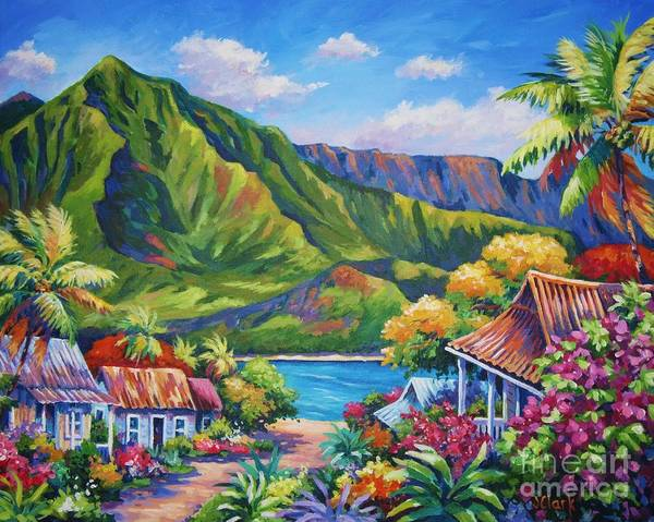 Hawaii Wall Art - Painting - Hanalei In Bloom by John Clark