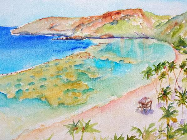 Painting - Hanauma Bay by Carlin Blahnik CarlinArtWatercolor