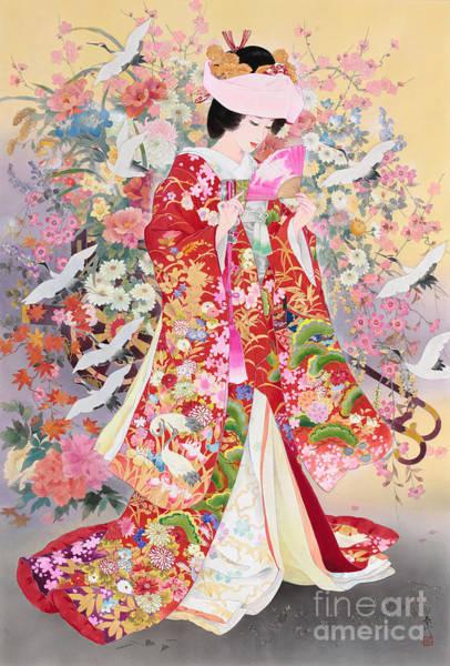 Japanese Art Digital Art - Hanayagi by MGL Meiklejohn Graphics Licensing