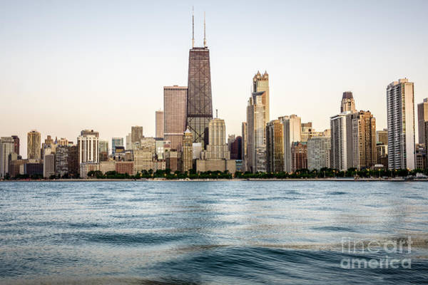 Hancock Tower Photograph - Hancock Building And Chicago Skyline by Paul Velgos