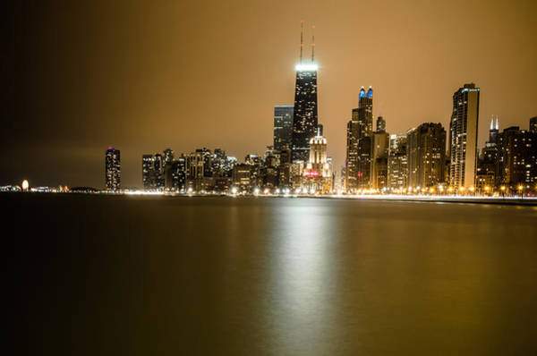 Michigan Ave Photograph - Hancock Building Reflection From North Ave Beach by Anthony Doudt