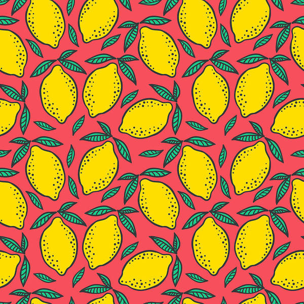 Lifestyles Digital Art - Hand Drawn Colorful Seamless Pattern Of by Ekaterina Bedoeva