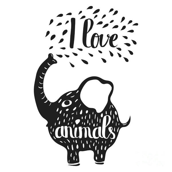 Fauna Wall Art - Digital Art - Hand Drawn Lettering Typography Poster by Alena Dubinets