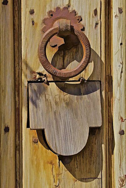 Mail Slot Photograph - Hand Forged Iron Door Handle by David Letts