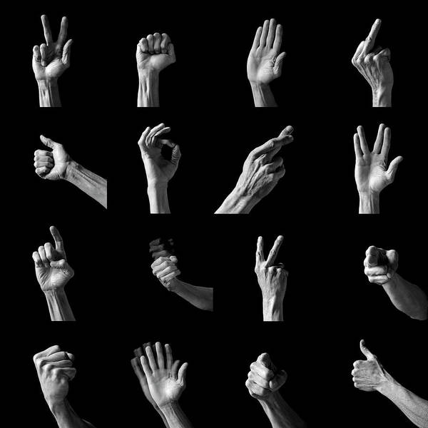 Gesturing Photograph - Hand Gestures by Peter Aprahamian/science Photo Library