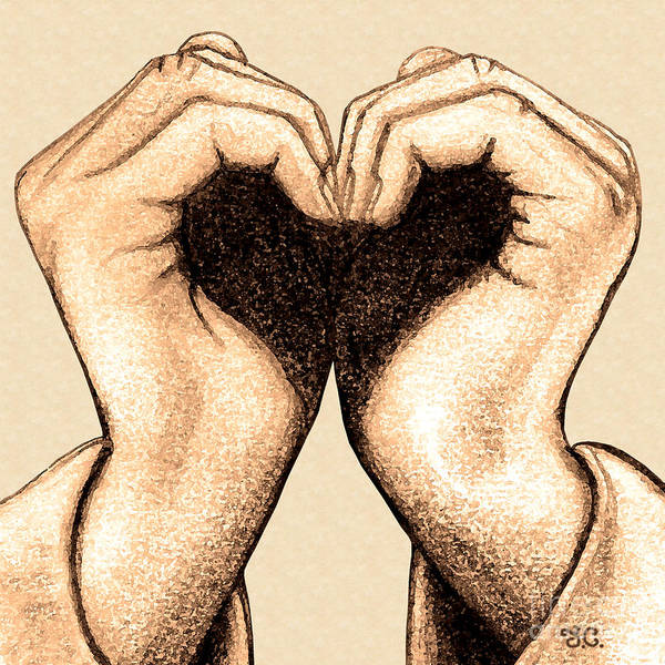 Valentines Digital Art - Hand Heart by Jaison Cianelli