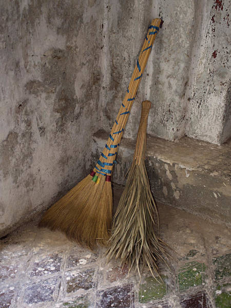 Broom Photograph - Hand Made Brooms At Shwe Yan Pyay by Panoramic Images