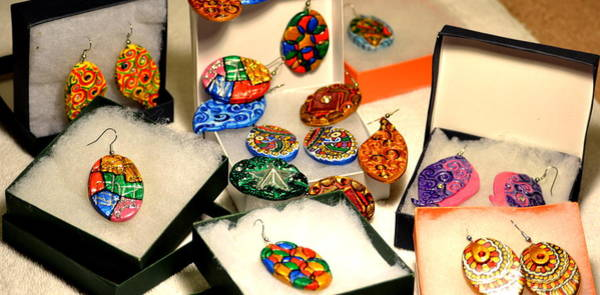 Madhubani Photograph - Hand-made Earrings by Deepti Mittal