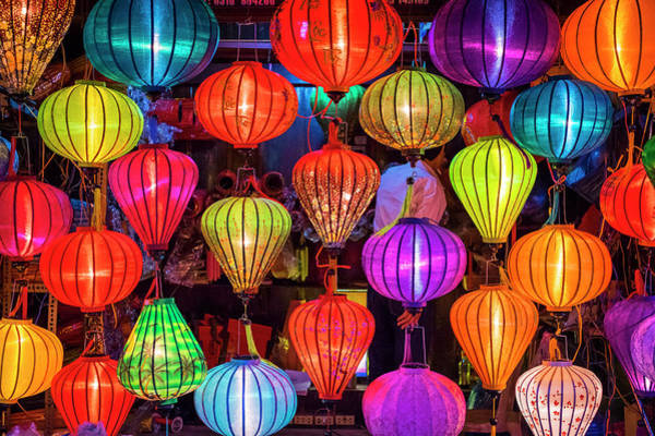 Quang Nam Province Photograph - Hand-made Silk Lanterns For Sale by Jason Langley