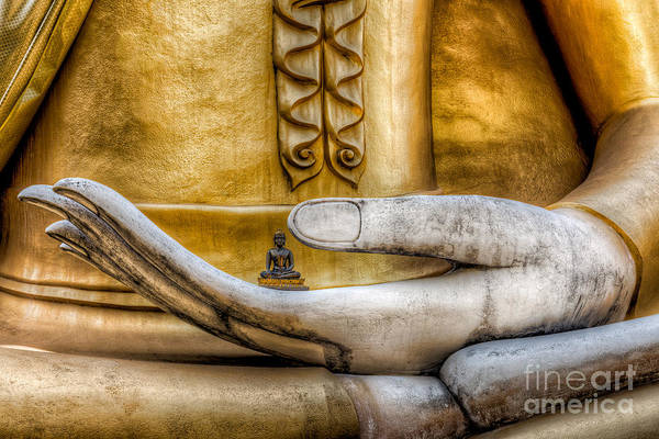 Gold Digital Art - Hand Of Buddha by Adrian Evans