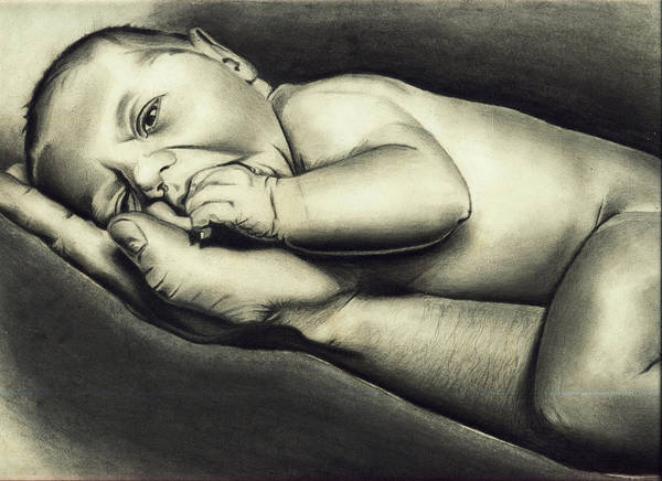 Singh Drawing - Hand Of Comfort by Atinderpal Singh