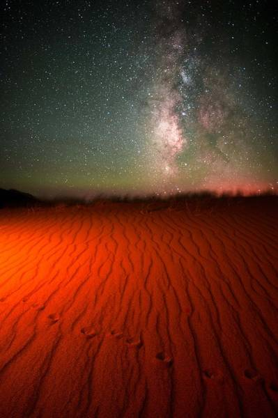 Star Track Wall Art - Photograph - Hand Painted Mystery Under The Stars by Mike Berenson