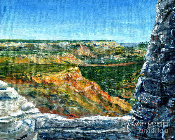 Painting - Hand Painted Palo Duro Texas Landscape by Lenora  De Lude