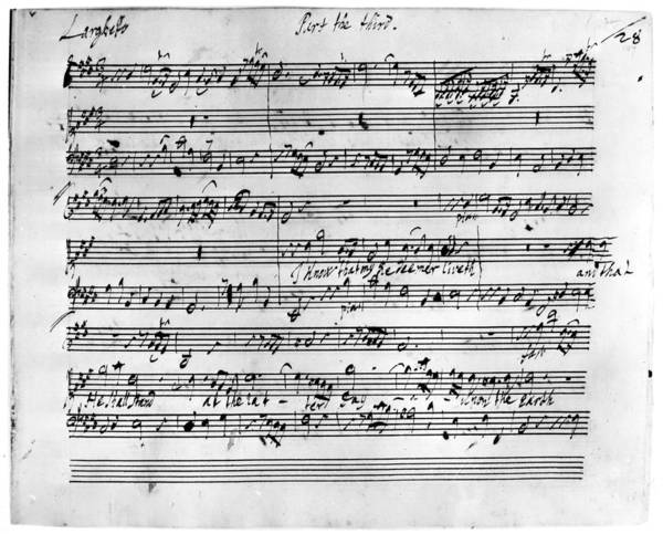Painting - Handel Music Sheet by Granger