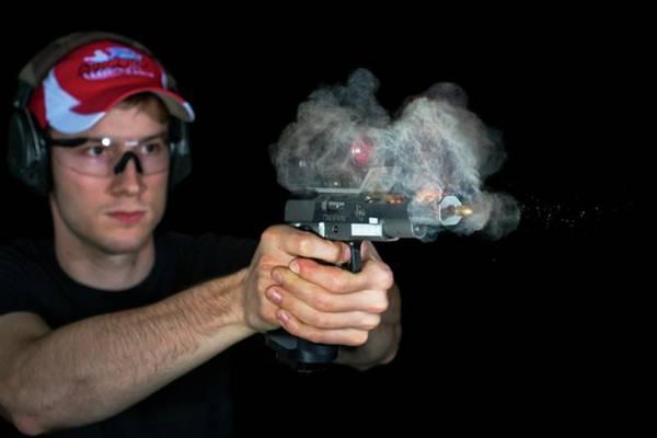 Firepower Photograph - Handgun Shot by Herra Kuulapaa � Precires