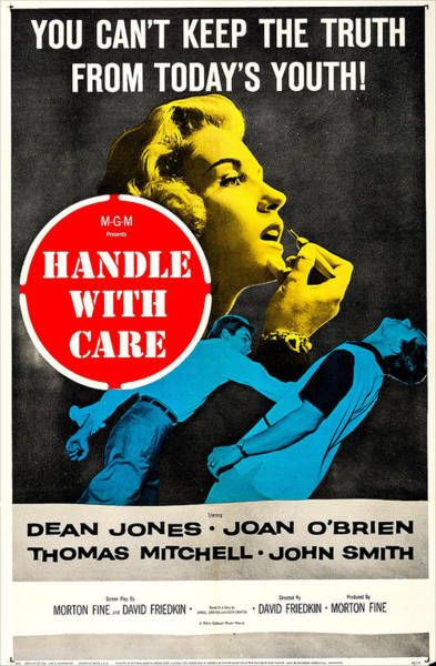 1958 Movies Photograph - Handle With Care, Us Poster, Top Joan by Everett
