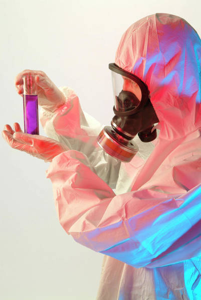 Handling Photograph - Handling Toxic Material by Cc Studio/science Photo Library