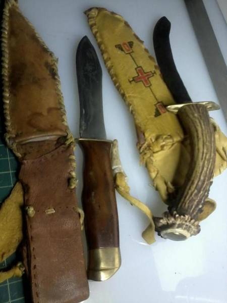 Walnut Mixed Media - Handmade Knives by Todd Spaur
