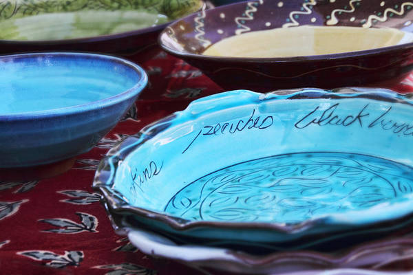 Photograph - Handmade Pottery by Peggy Collins