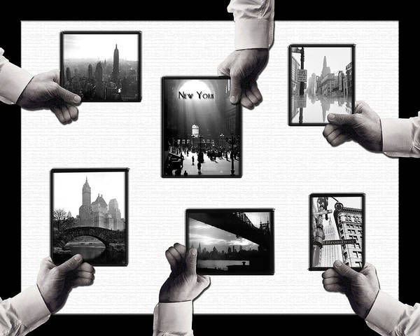 Photograph - Hands Frame New York by Natasha Marco