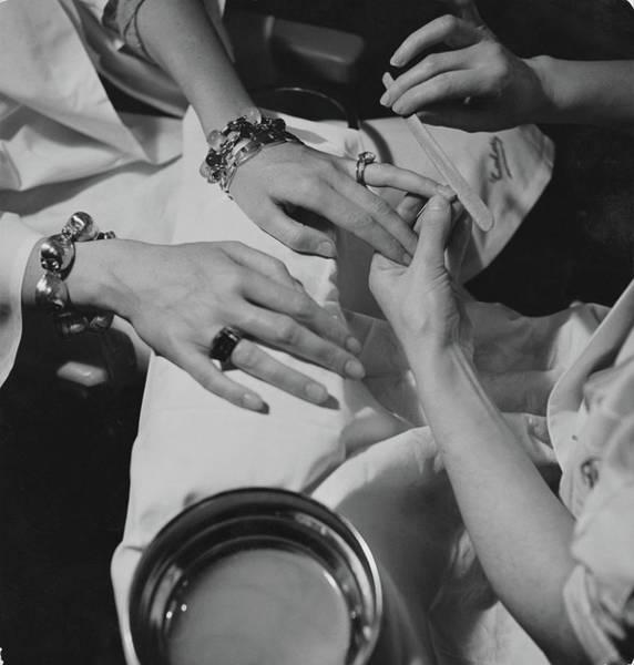 Hands Of The Comtesse Chandon De Briailles Art Print by Roger Schall