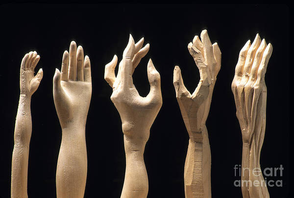 Wall Art - Photograph - Hands Of Wood Puppets by Bernard Jaubert