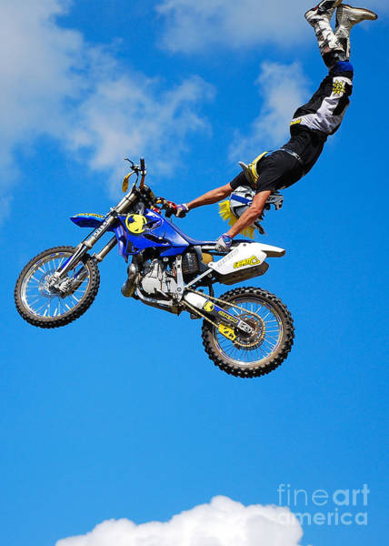 Dirtbike Photograph - Handstand by Mark Spearman