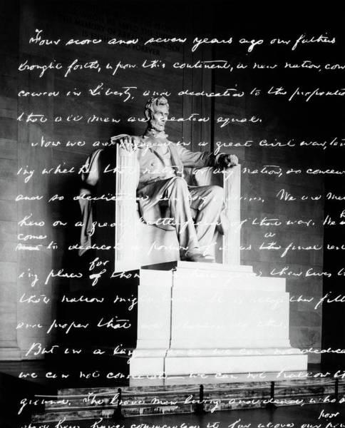 1863 Photograph - Handwritten Gettysburg Address by Vintage Images