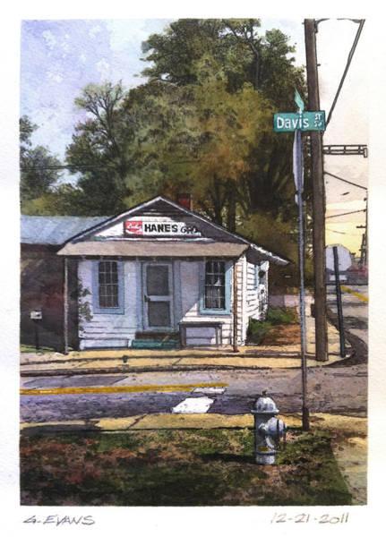 Coca Cola Painting - Hanes Gro. by George Evans