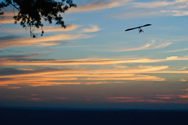 Photograph - Hang Gliding At Sunset by George Taylor
